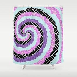 Happy Boho spiral pattern Shower Curtain