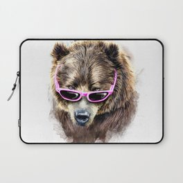 Cool shy bear Laptop Sleeve