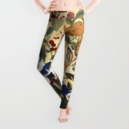 Floral and Birds XXIX Leggings