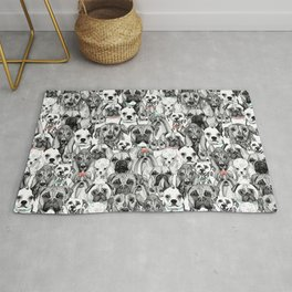 just dogs coral mint Rug