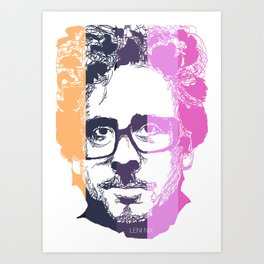 TIM BURTON IN COLORS Art Print