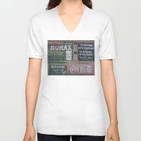 coca cola V-neck T-shirts featuring Coca-Cola & Borax by Andrea Jean Clausen - andreajeanco