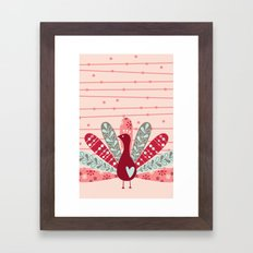 Garden Peacock Framed Art Print