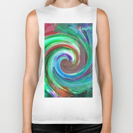 Abstract Mandala 284 Biker Tank
