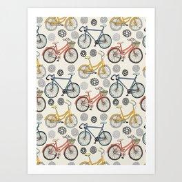 Just Keep Pedalling Art Print