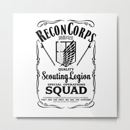 Recon Corps Attack On Titan Metal Print