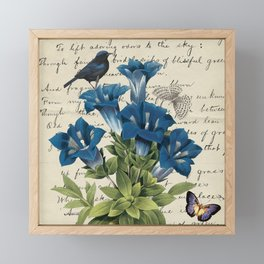Blue Bird Blue Life Framed Mini Art Print