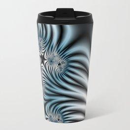 Blue Zebra Fractal Travel Mug