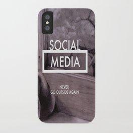 Social Media iPhone Case