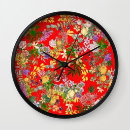 Gypsy Stoner on Red Wall Clock