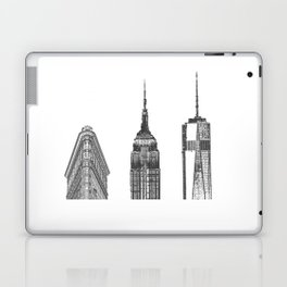 New York City Iconic Buildings-Empire State, Flatiron, One World Trade Laptop & iPad Skin