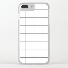 WINDOWPANE ((black on white)) Clear iPhone Case