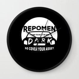Repossession Agent: Funny Repo Agent Gift Wall Clock