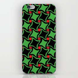 Twisted squares iPhone Skin