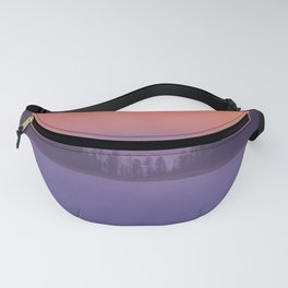 Foggy Winter Evening With Beautiful Sunset Colors In The Sky #decor #buyart #society6 Fanny Pack