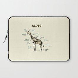 Anatomy of a Giraffe Laptop Sleeve