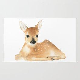 Baby Deer Watercolor Rug