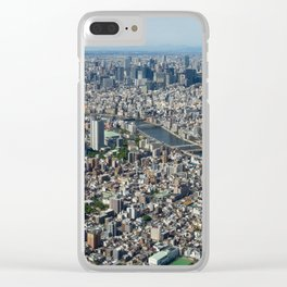 Tokyo Areal View Clear iPhone Case