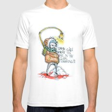Where the hell is the global warming! Mens Fitted Tee White MEDIUM