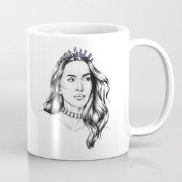 Amethyst Mermaid Portrait - February Birthstone Coffee Mug