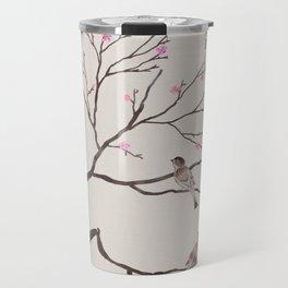 Chinese Painting -Spring (Birds) Plum Blossom  Travel Mug