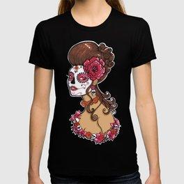 Glamorous Sugar Skull Girl T-shirt