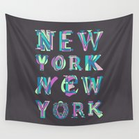 nyc Wall Tapestries featuring NYC by Fimbis