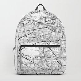 Dublin Map White Backpack