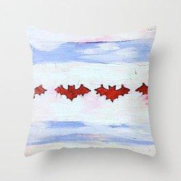 Bat Flag Throw Pillow