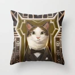 The Great Catsby Throw Pillow