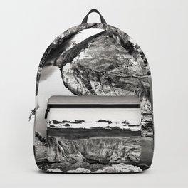 Horseshoe Bend Arizona Black and White Backpack