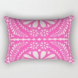 Fiesta de Flores Pink Rectangular Pillow