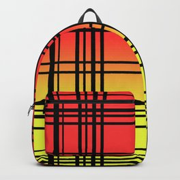 Red Yellow Geadient Plaid Pattern / GFTPlaid021 Backpack