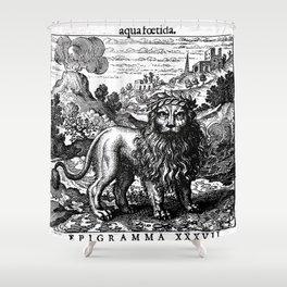 Theosophie & Alchemie - The Green Lion Shower Curtain