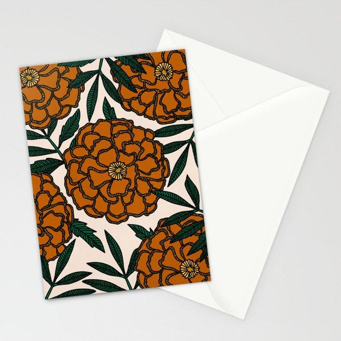 Orange Marigolds Stationery Cards