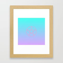 Pastel Pentacle Framed Art Print