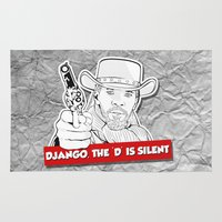 django Area & Throw Rugs featuring Django - the 'D' is silent by selena.squarzanti