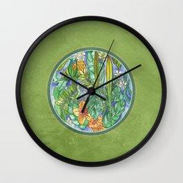 Pira Floral Wall Clock