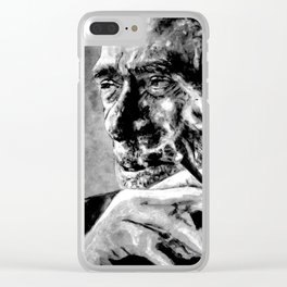 Charles Bukowski - black - quote Clear iPhone Case
