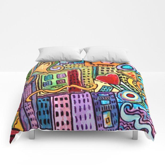 Pretty City Comforters