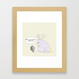guess who Framed Art Print