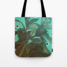 distorted plant sees everything Tote Bag
