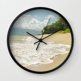 maui beach Wall Clock