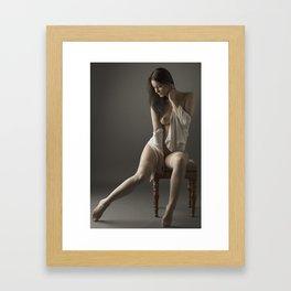 beige stockings 09 Framed Art Print