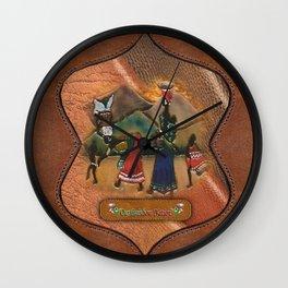Traditional SA costume Wall Clock