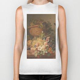 Still Life with Flowers and Fruit, Eelke Jelles Eelkema (1824) Biker Tank