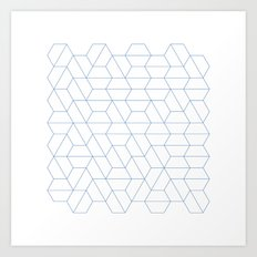 #329 Hexagon fields – Geometry Daily Art Print