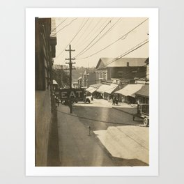 High Street View Art Print