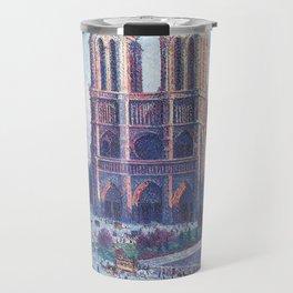 Notre Dame, Paris, France Masterpiece by Maximilian Luce Travel Mug