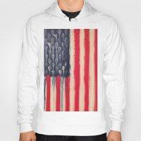 america Hoodies featuring America  by Matt Pecson